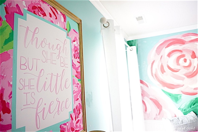 #lillypulitzer #lillypulitzerwall #accentwall #lillypulitzeraccentwall #paint #littlegirlroom #girls #girlmom #momlife #daughter #bedroom #bedroominspo #interiordecor