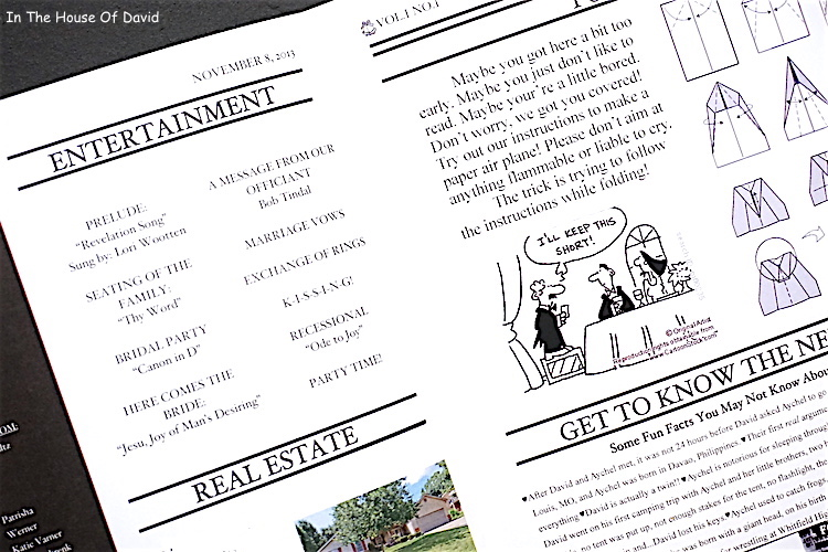 freebie diy newspaper wedding program template in the house of