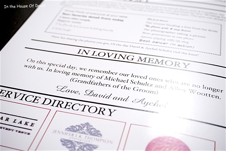 freebie    diy newspaper wedding program template